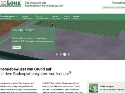 IsoLohr® mit neuer Internetseite
